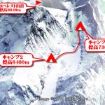 【エベレスト登山】図解+写真でエベレスト南東稜登山。その4 キャンプ2からキャンプ3.