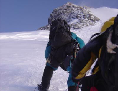 【写真】山頂まで高低差100mまで迫ったが。