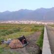 【写真】テントがあると野宿範囲が広がる。