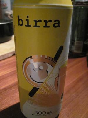 イタリアの安いビール。