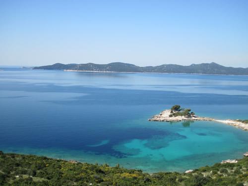 クロアチア アドリア海沿い国道8号線から見える景色