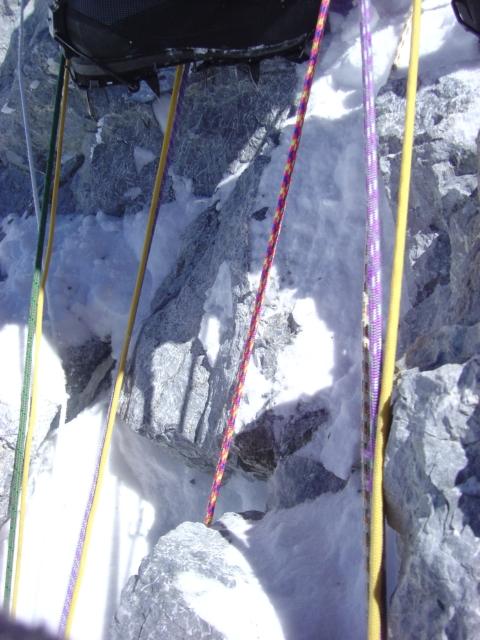 【写真】ヒラリーステップのロープ群。