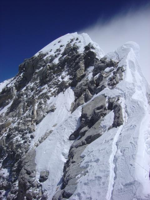 【写真】標高8790mにあるヒラリーステップ。