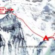 【図解】キャンプ4から山頂まで。