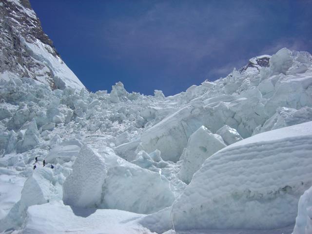 【写真】エベレスト登山の中でも危険とされるアイスフォール
