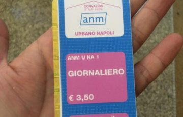 【写真】ナポリの1日券は3.5ユーロおよそ423円