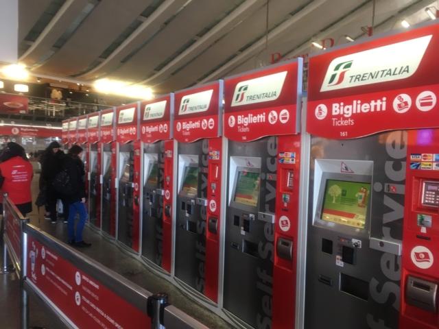 【写真】トレニイタリアの自動発券機は非常に便利