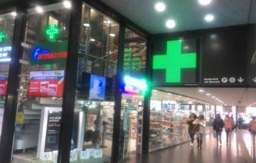 【写真】テルミニ駅の薬局
