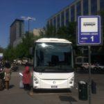 【写真】マルペンサ行きバス発着所