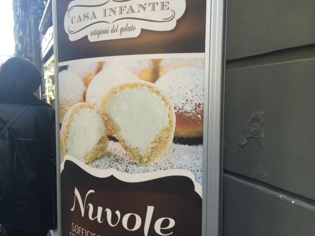 【写真】Nuvoleの宣伝看板