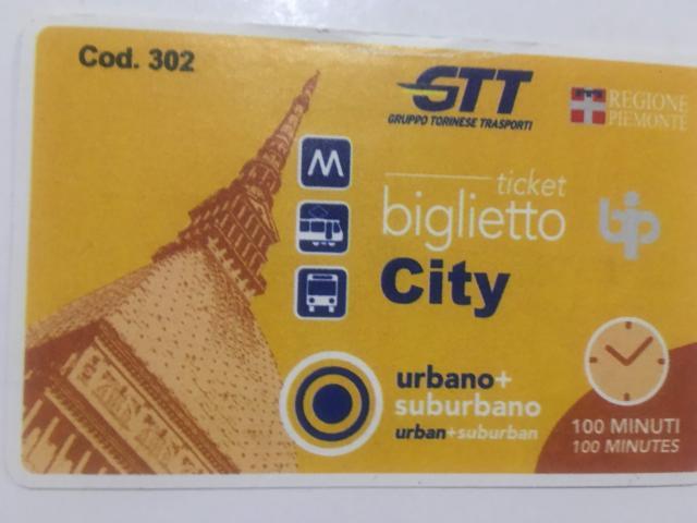 トリノのバス、トラム共通券