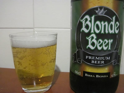 Blonde beer ブロンドビール イタリア